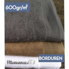 Strandlaken 100 x 180cm (600 gr/m2)  met logo borduren