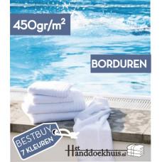 Strandlaken (450 gr/m2) 100 x 180cm met logo borduren