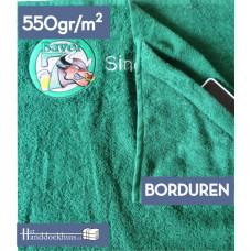 Strandlaken met opbergzakje (550gr/m2) 180 x 100cm incl. logo